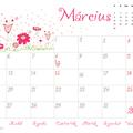 Nyomtatható márciusi naptár