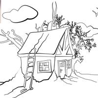 Házikós és Télapós kifestő