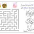 Karácsonyi labirintus gyerekeknek