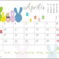 Nyomtatható áprilisi naptár