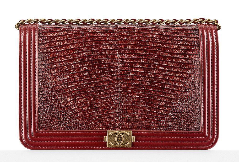 Chanel Lizard Boy Wallet on Chain Bag - $3,500