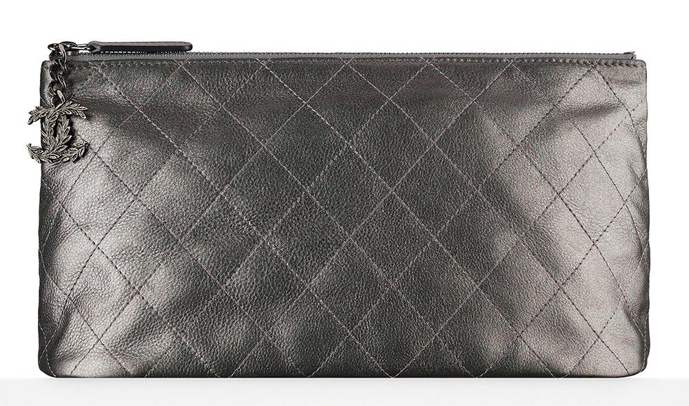 Chanel Metallic Calfskin Pouch - $825