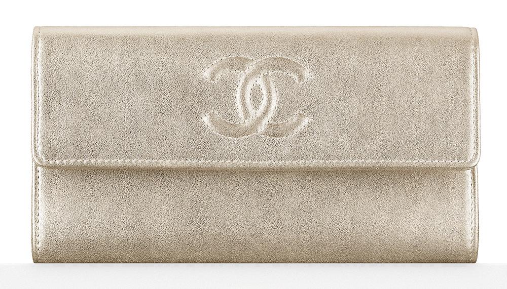 Chanel Metallic Flap Wallet - $825