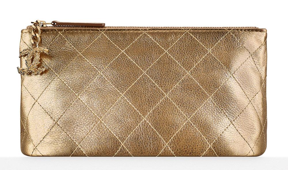 Chanel Metallic Pouch - $675