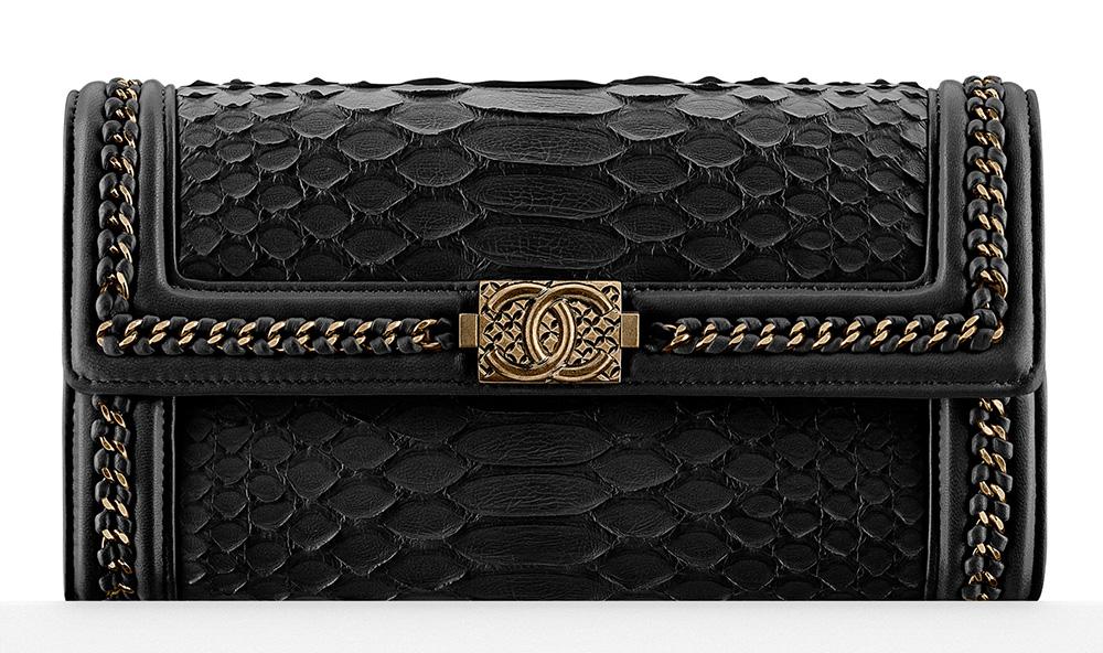 Chanel Python Boy Flap Wallet - $2,600