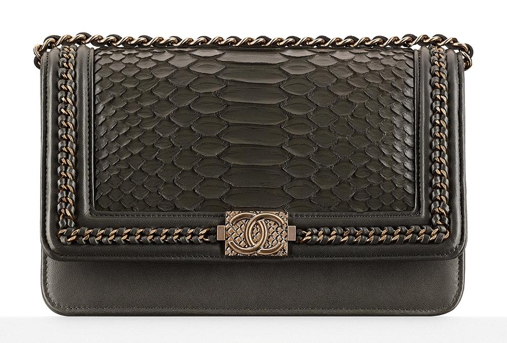 Chanel Python Boy Wallet on Chain Bag - $4,300