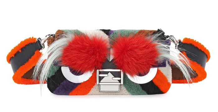 2 / 9 - A legdrágább szőrmés táska<br />Fendi - Baguette Monster Mixed Fur Bag<br />2.178.000 Ft