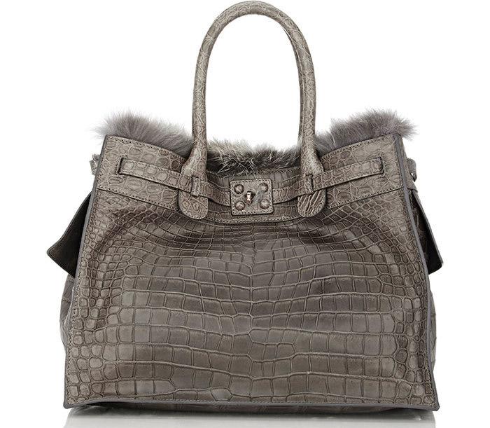 9 / 9 - A legdrágább krokodilbőr táska<br />Zagliani - Crocodile and Fox Fur Gatsby Bag<br />9.864.000 Ft