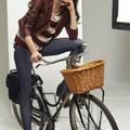 Bershka bicycle photoshoot