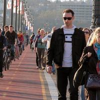 Válasz a BKK-tól: áprilisban lesznek bringajelek a Margit hídon