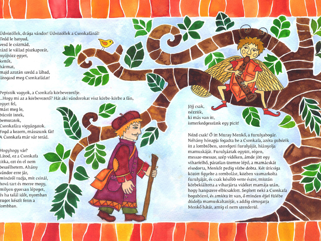 Csonkafa - Meseillusztráció az Aranyvackor pályázatra (Mese szerzője: Gőbel Noémi, illusztráció: Czenthe Kata) / Illustration of a fairytale (Author: Noémi Gőbel, illustration: Kata Czenthe)