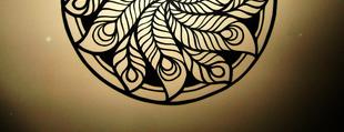 Páva-forma papírfiligrán mandala