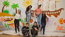 Iskolafestés-mesefal