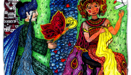 Mese Jáva szigetéről / Illustration of a fairytale from Java