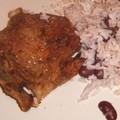 Jerk disznósült, jamaikai babos rizzsel
