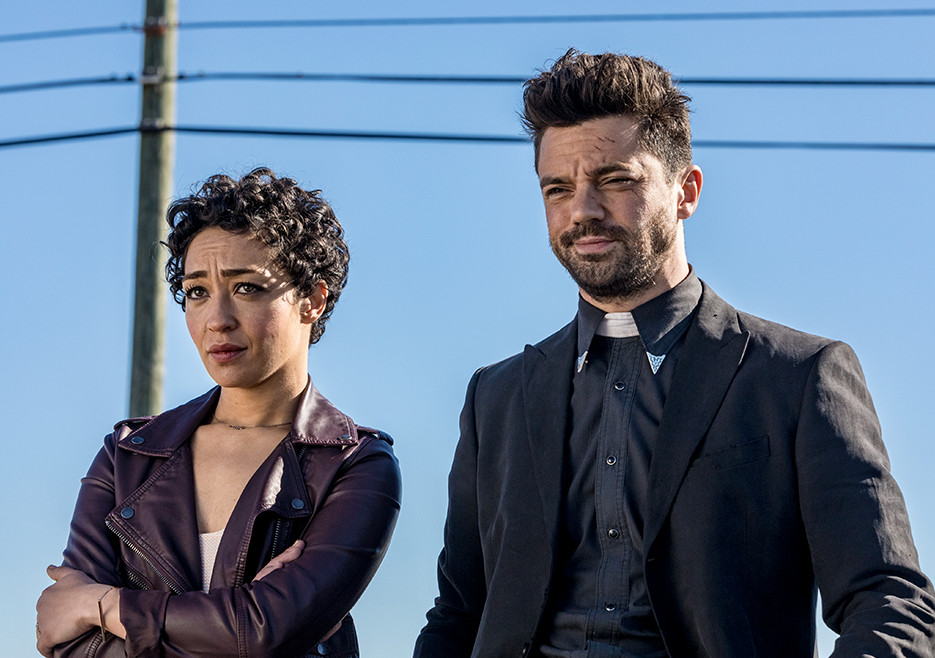 Tulip (Ruth Negga) and Jesse Custer (Dominic Cooper) in Season 2<br />Photo by Skip Bolen/AMC