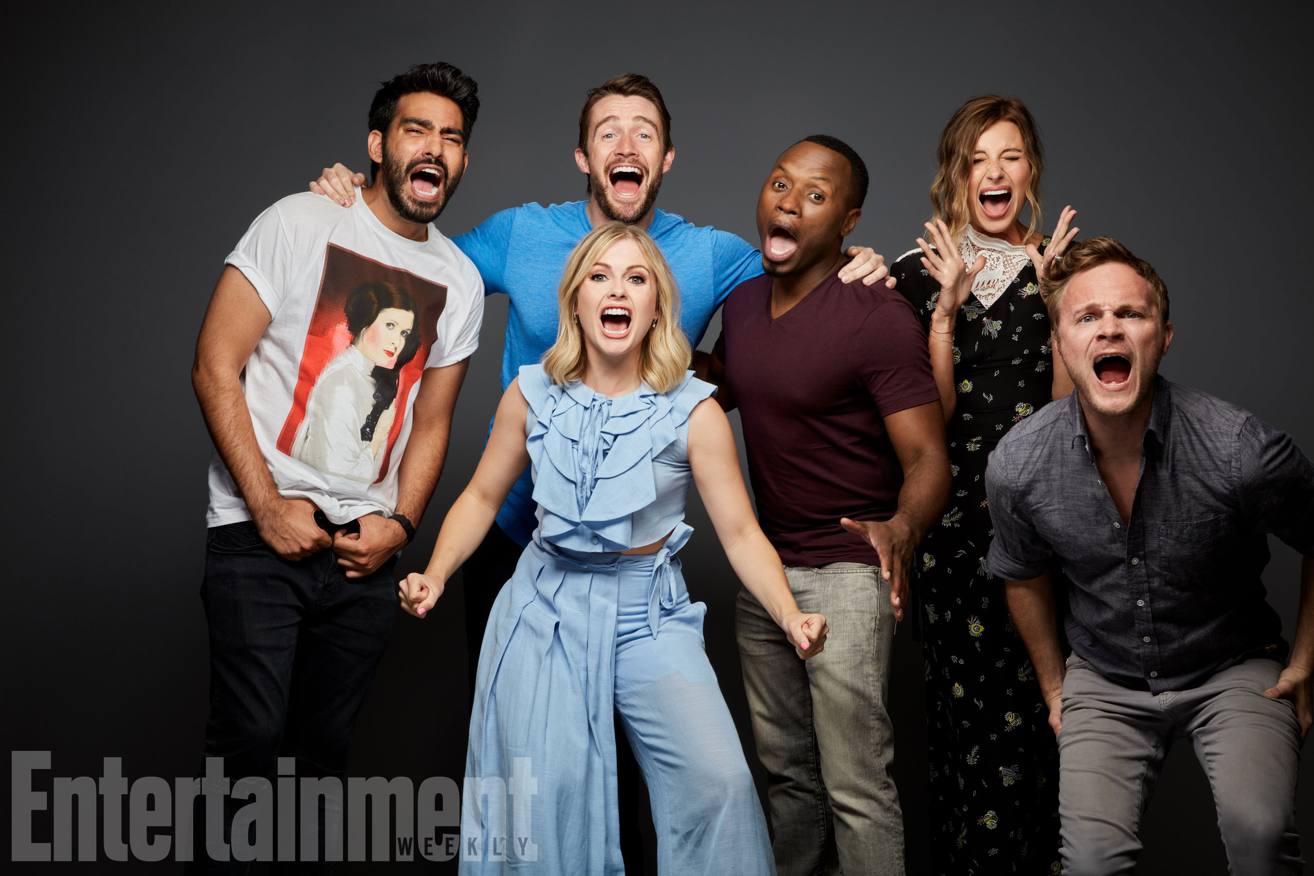 Rahul Kohli, Robert Buckley, Rose McIver, Malcolm Goodwin, Aly Michalka és David Anders (iZombie)
