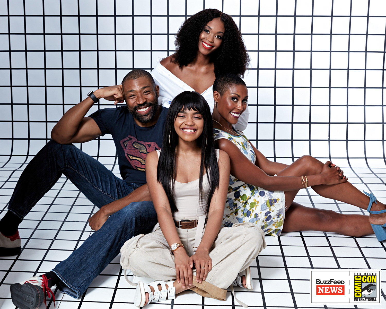 Black Lightning<br /><br />Cress Williams, Nafessa Williams, China Anne McClain és Christine Adams.