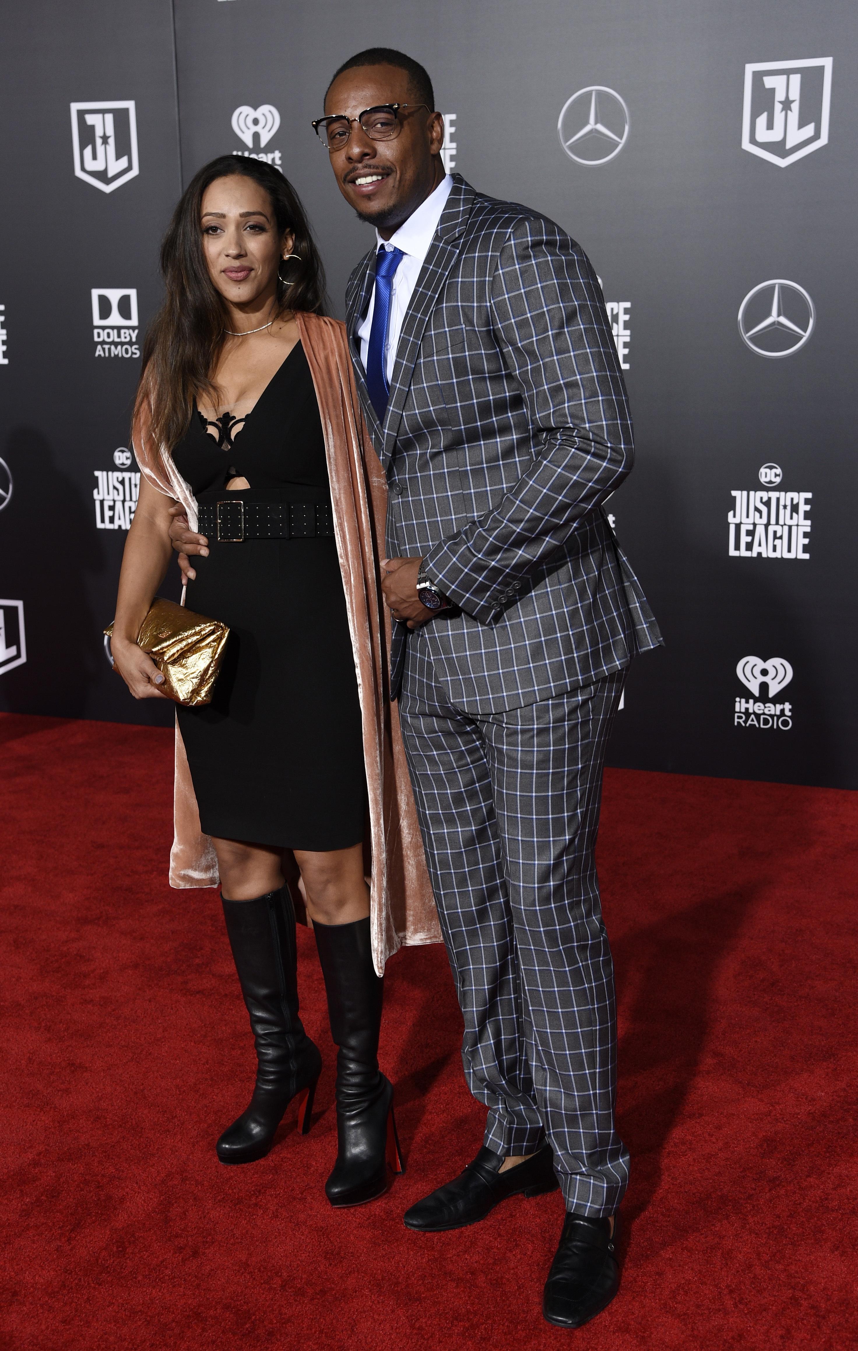 Paul Pierce, visszavonult kosárlabdázó és felesége, Julie