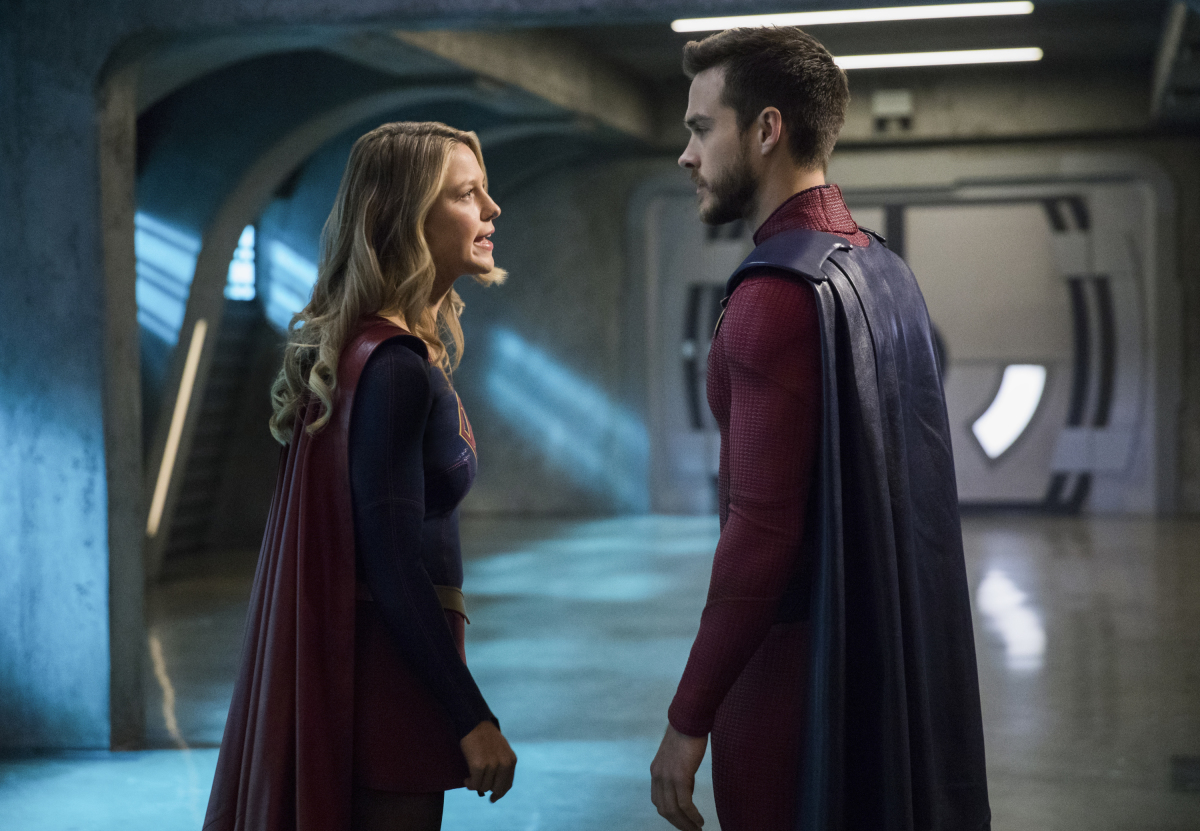 Supergirl -- 'In Search of Lost Time' -- Image Number: SPG315b_0073.jpg -- Pictured (L-R): Melissa Benoist as Kara/Supergirl and Chris Wood as Mon-El -- Photo: Jack Rowand/The CW -- © 2018 The CW Network, LLC. All Rights Reserved.