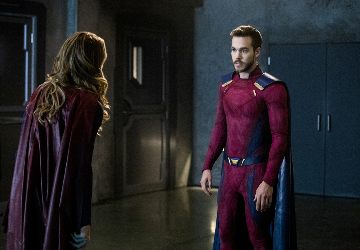 Supergirl -- 'In Search of Lost Time' -- Image Number: SPG315b_0161.jpg -- Pictured (L-R): Melissa Benoist as Kara/Supergirl and Chris Wood as Mon-El -- Photo: Jack Rowand/The CW -- © 2018 The CW Network, LLC. All Rights Reserved.