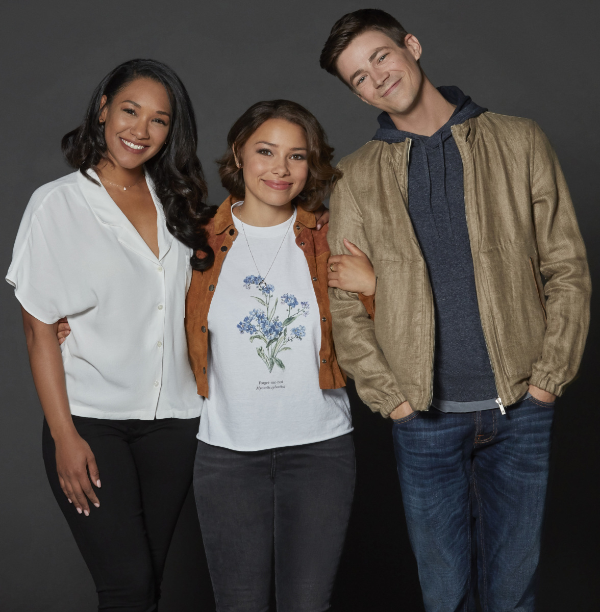The Flash's Candice Patton, Jessica Parker Kennedy and Grant Gustin