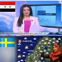 Felül Szíria, alul Svédország