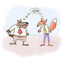 A róka és a farkas halastava