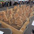 Kínai agyaghadsereg Legóból, aszfaltra rajzolva, 3D-ben...