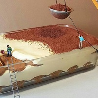 Egy olasz cukrász zabálnivaló diorámákat készít desszertekből