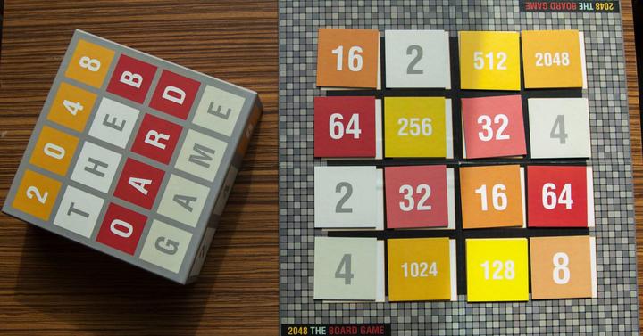 2048 - the board game - hamarosan a Kickstarteren