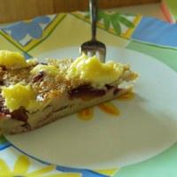 Mandulás- vaníliás- szilvás clafoutis gluténmentesen
