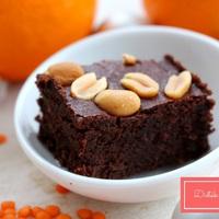 Lisztmentes narancsos-lencsés brownie
