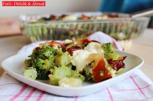 Ínycsiklandó sonkás brokkoli a sütőből