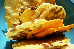 Gyors napraforgómagos sajtchips