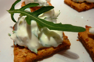 3 perces kence: rukkolás cottage cheese