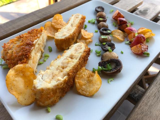 Kettle csirke gombával és karamellizált retekkel
