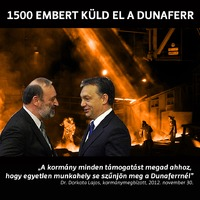 2013.08.14: 1500 embert küldött el a Dunaferr
