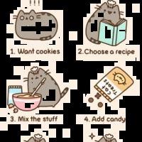 Pusheen és a süti sütés :D