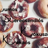 DRKONYHART: FÁNK RUMOS-SZERECSENDIÓS, ILLETVE KAKAÓS-KÓKUSZOS MÁZZAL (Doughnut with rum glaze and cacao-coconut glaze)