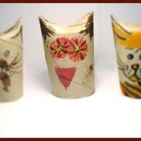 Házi- és vadmacskák WC papír gurigából