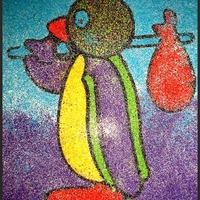 Szülinapra kapott kreatív ajándék: homokkép