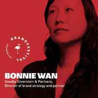 Bonnie Wan, a Goodby, Silverstein & Partners stratégiai igazgatója a BrandFestival-on