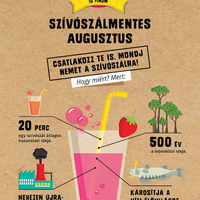 Augusztus 1-jén indul a Szívószálmentes augusztus kampány a Felelős Gasztrohős szervezésében