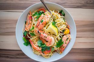 Garnélás Spaghetti