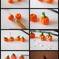 Halloween tök marcipánból vagy fondantból
