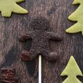 Bábu a fenyvesben: Csokoládés keksz pop és matcha fenyőfa