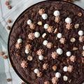 Ropogós tetővel: Rozslisztes csokitorta