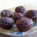 Zabkorpás csokis-meggyes muffin
