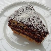 Nagyon csokis kókuszkocka torta